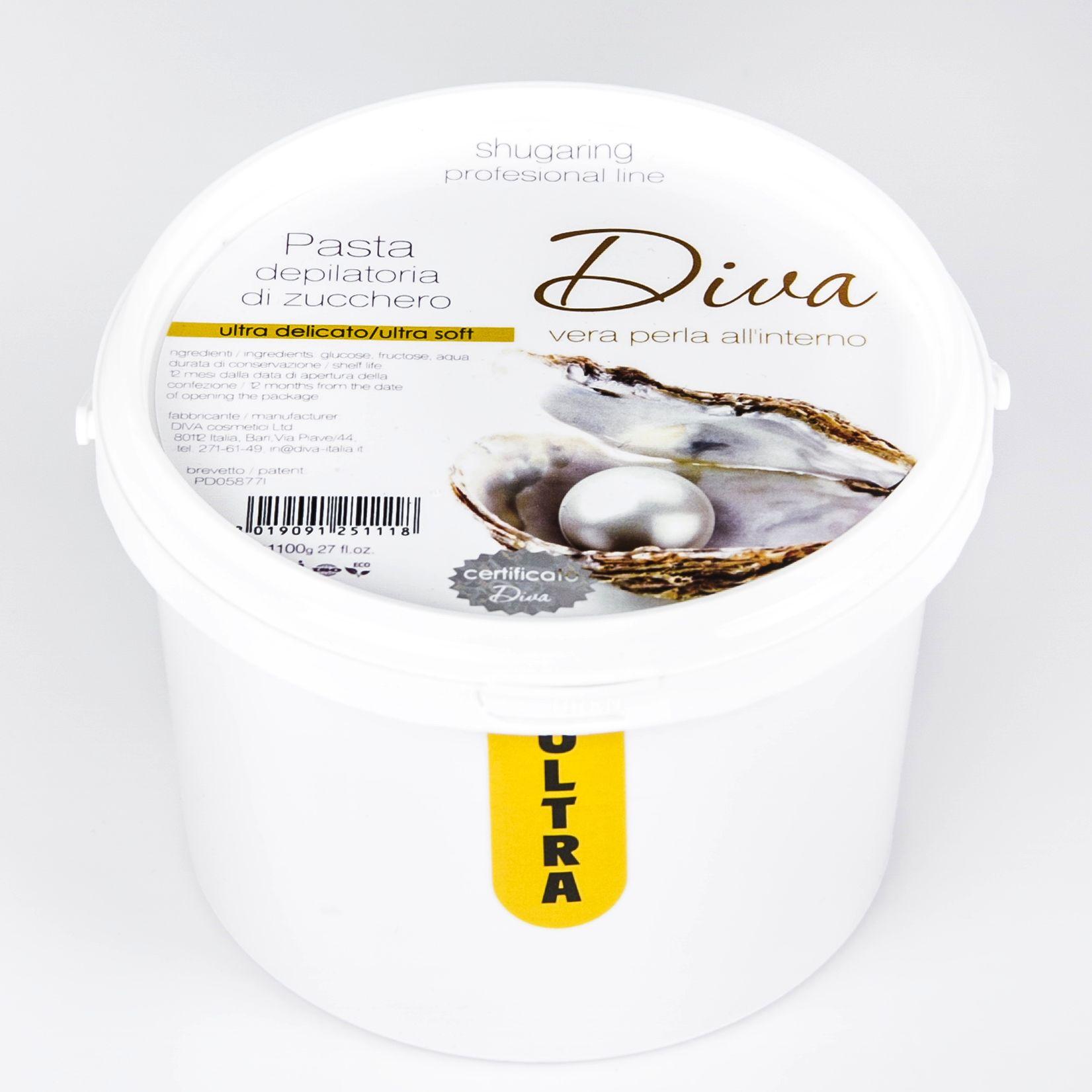 Картинка Ультра мягкая сахарная паста для шугаринга 1 кг DIVA ™